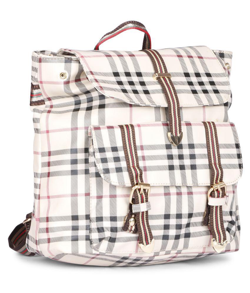 AIMS FUSON Brown Canvas College Bag