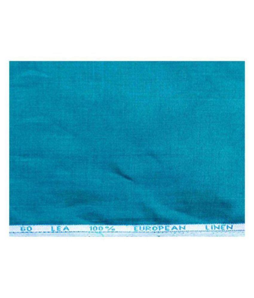 J Hampstead Turquoise Linen Unstitched Shirt pc
