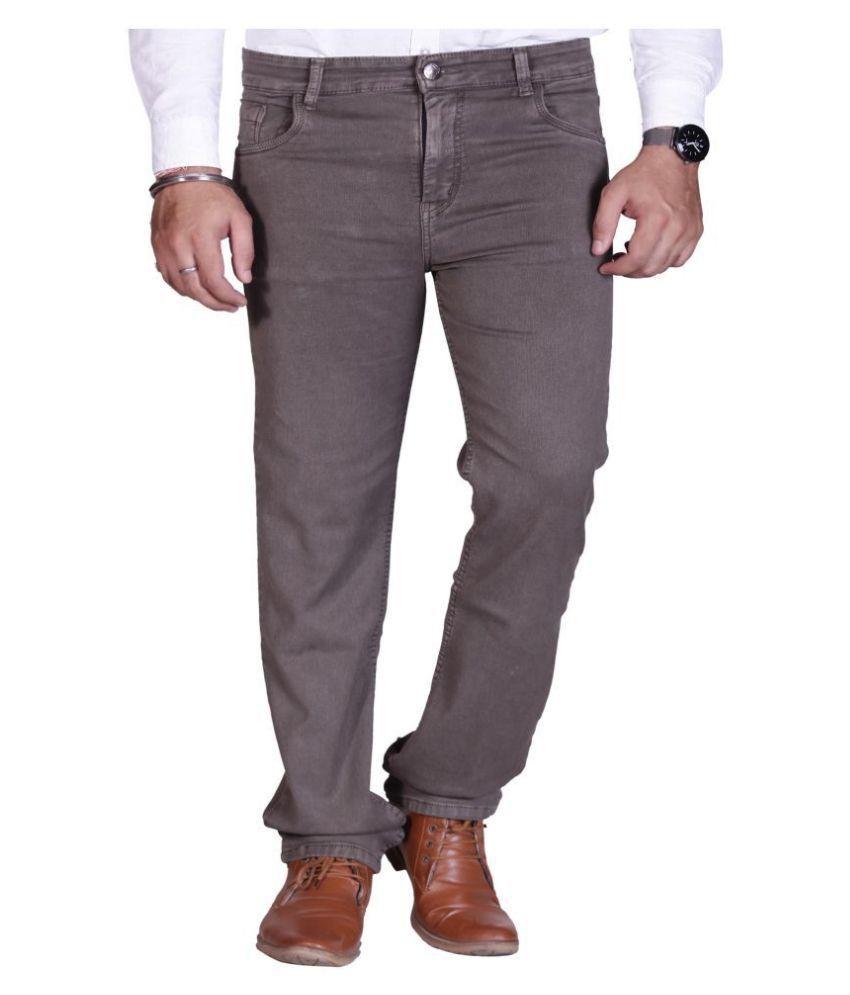 PRANKSTER Brown Regular Fit Jeans