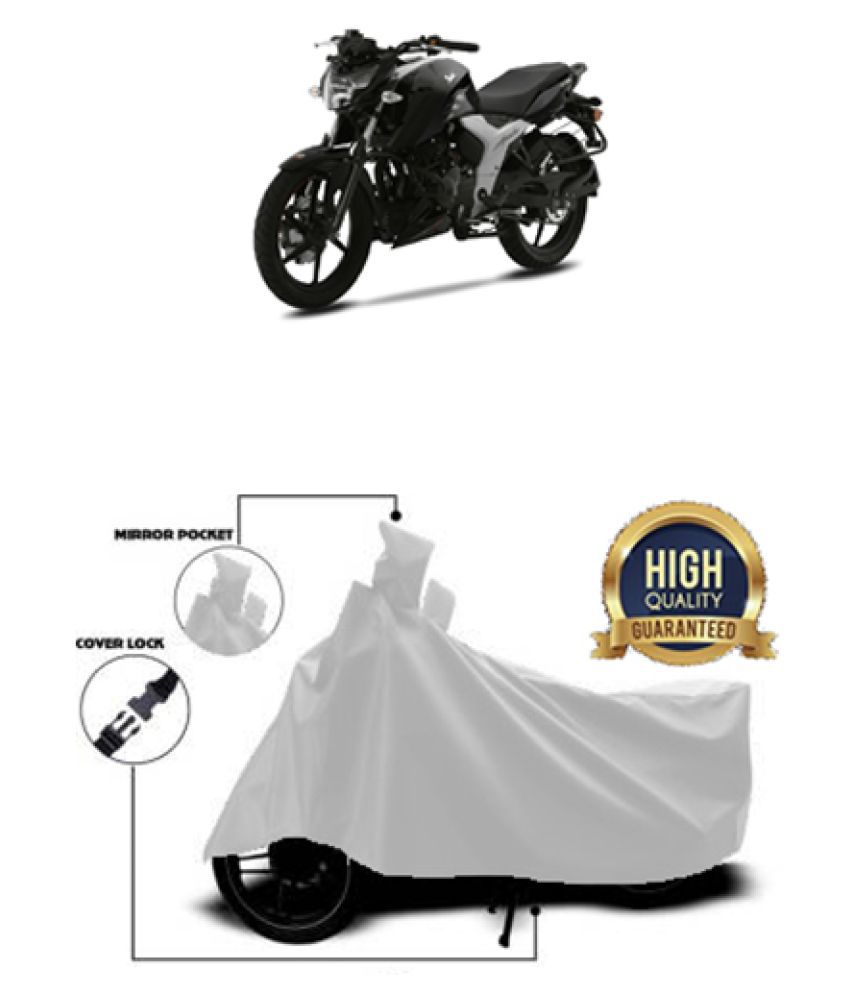Motohunk two wheeler cover for TVS Apache RTR 160 4V (Silver)