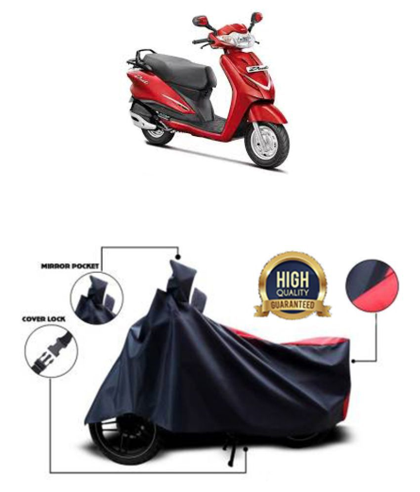 Motohunk two wheeler cover for Hero Duet (Red, Black)