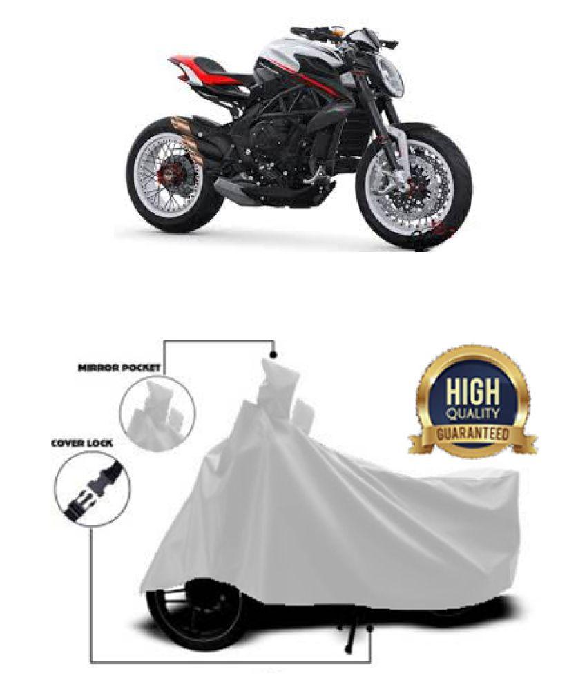 Motohunk two wheeler cover for MV Agusta Dragster800 RR (Silver)