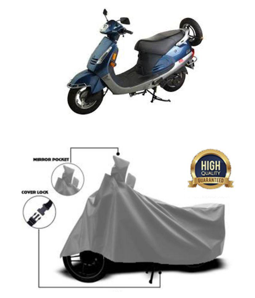 Motohunk two wheeler cover for Kinetic Nova Grey