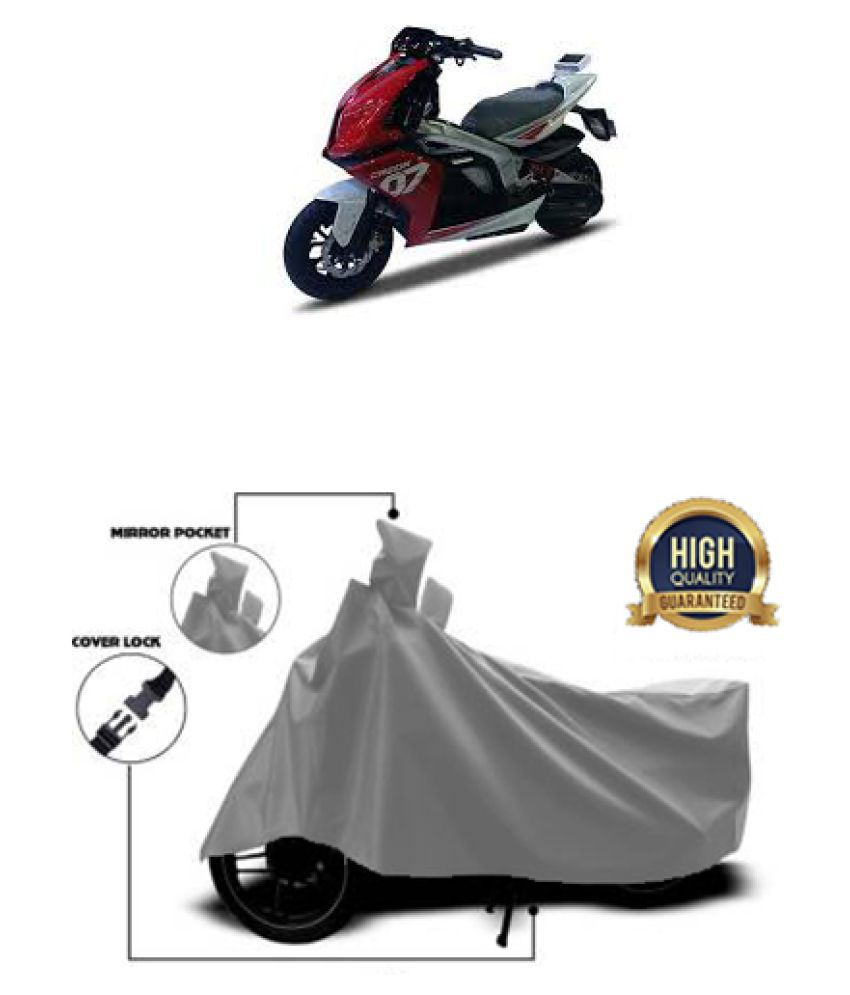 QualityBeast two wheeler cover for TVS Creon Grey