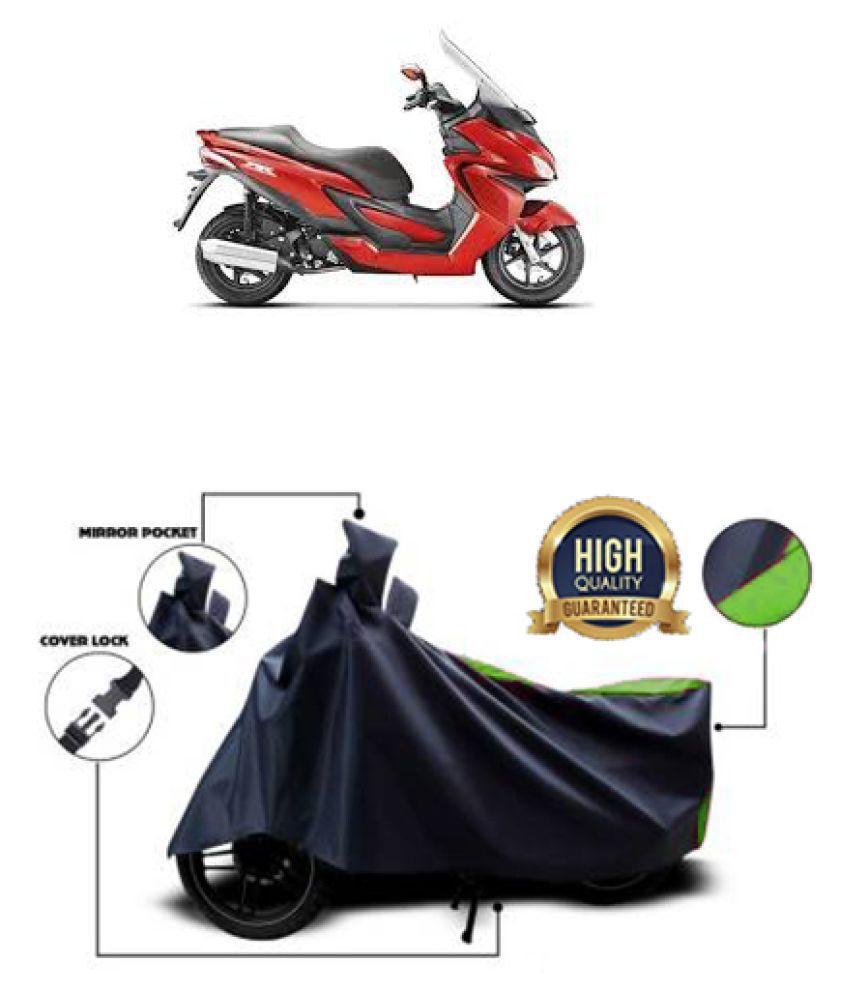 QualityBeast two wheeler cover for Hero ZIR (Green, Black)