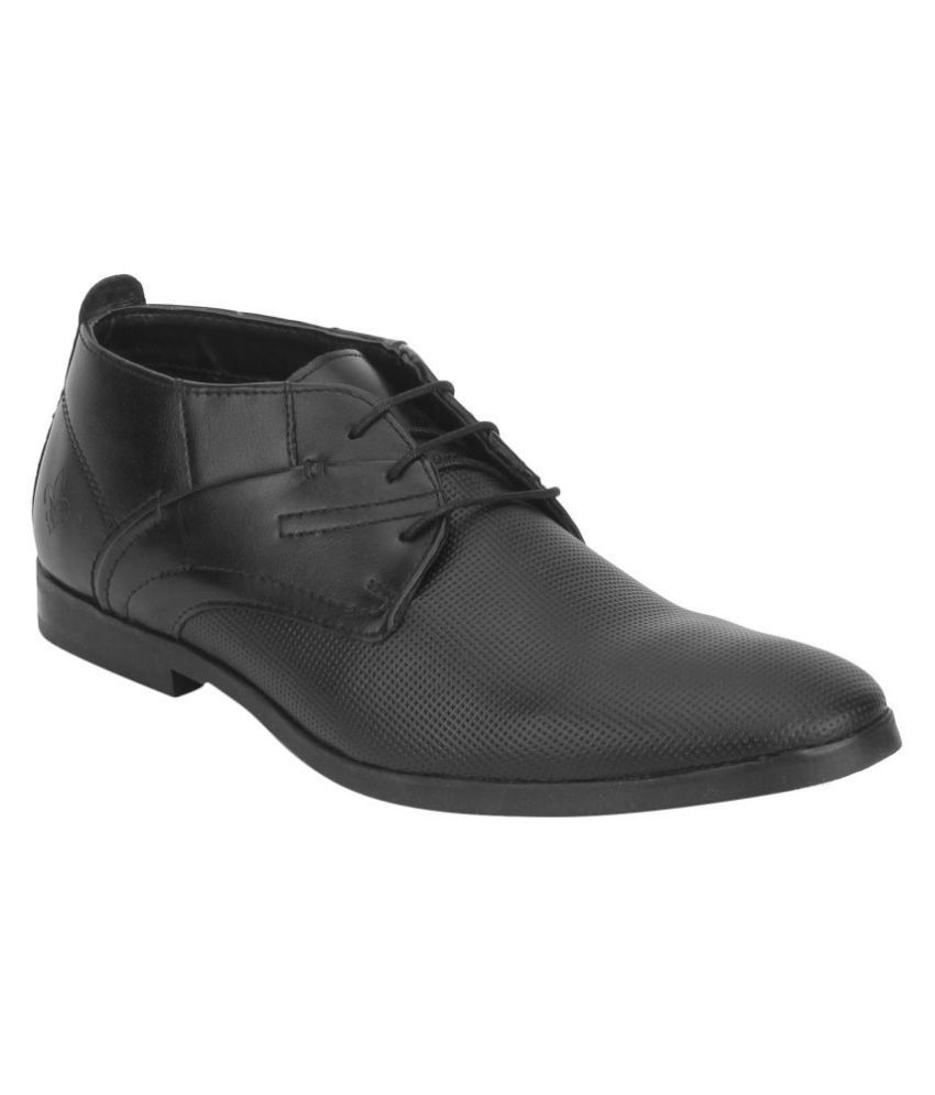 Bond Street By Red Tape Office Non-Leather Black Formal Shoes