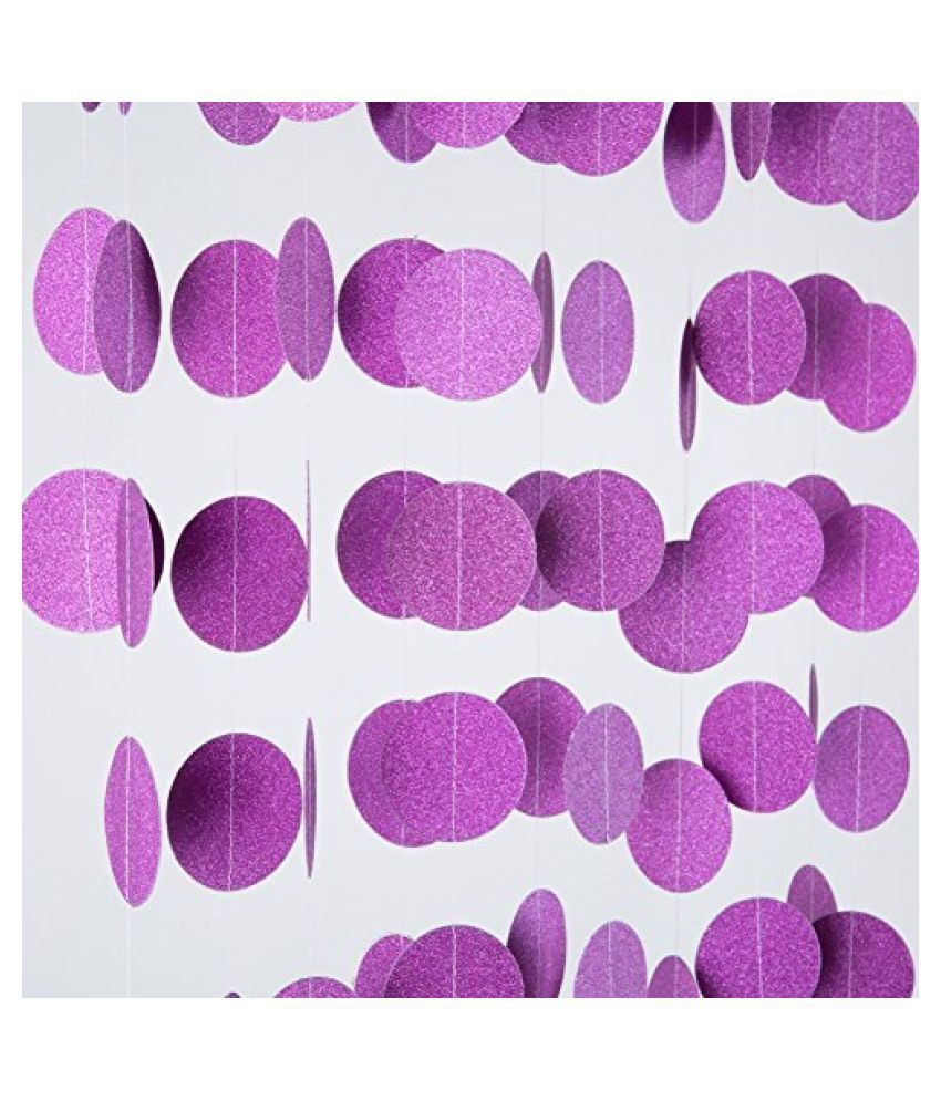HIPPITY HOP Paper Party Decor Purple - Pack of 1