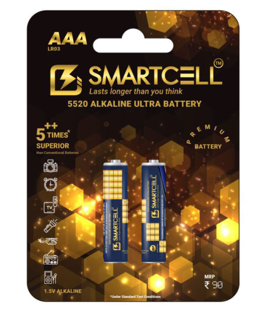 Smartcell AAA Alkaline 1.5V Premium Series Non Rechargeable Battery 2