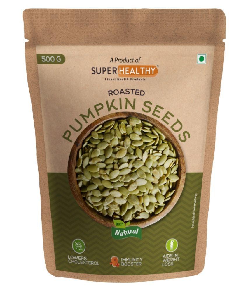 Super Healthy Roasted Pumpkin Seeds   Edible Raw Seeds   Organic Pumpkin Seeds for Eating - 500g