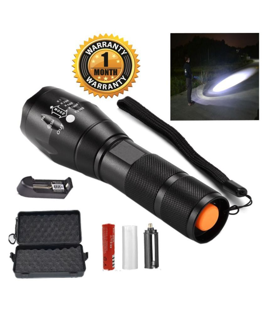 UC ZOOMABLE FLASHLIGHT WITH RECHARGEABLE LED TORCH 15W Flashlight Torch - Pack of 1