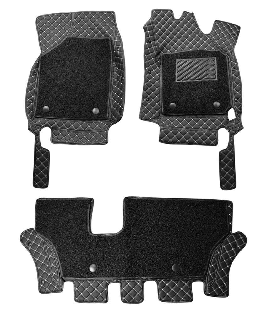 WIINE Leatherite 7D Car Mats For Porsche Cayenne 2012 (Grey)