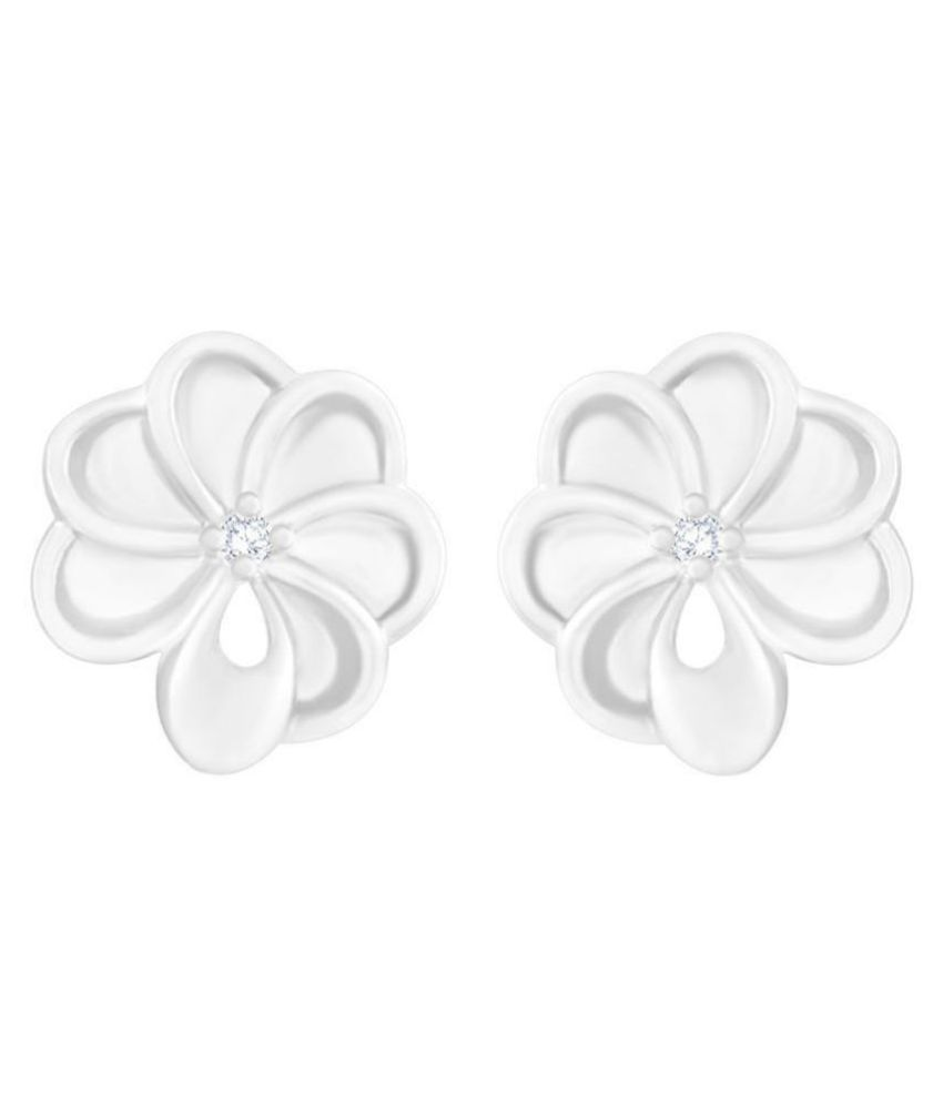 MFJ Fashion Jewellery Daily Wear Long Lasting Rodium Plated Earrings for Girls and Women