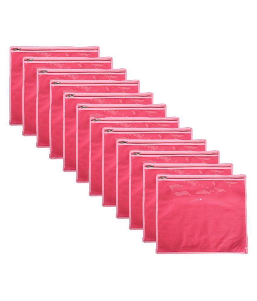 Bulbul Pink Saree Covers - 12 Pcs