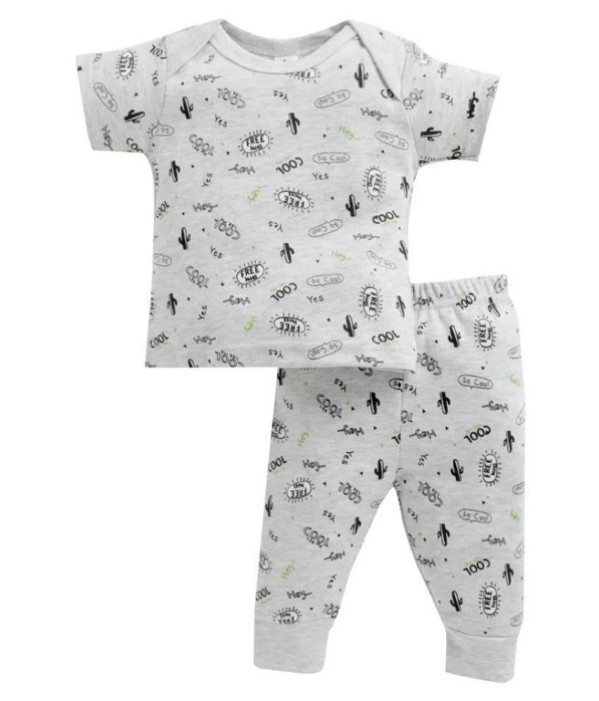 Spring Bunny -  Baby Boy ' SoCool ' Grey Pyjama Set