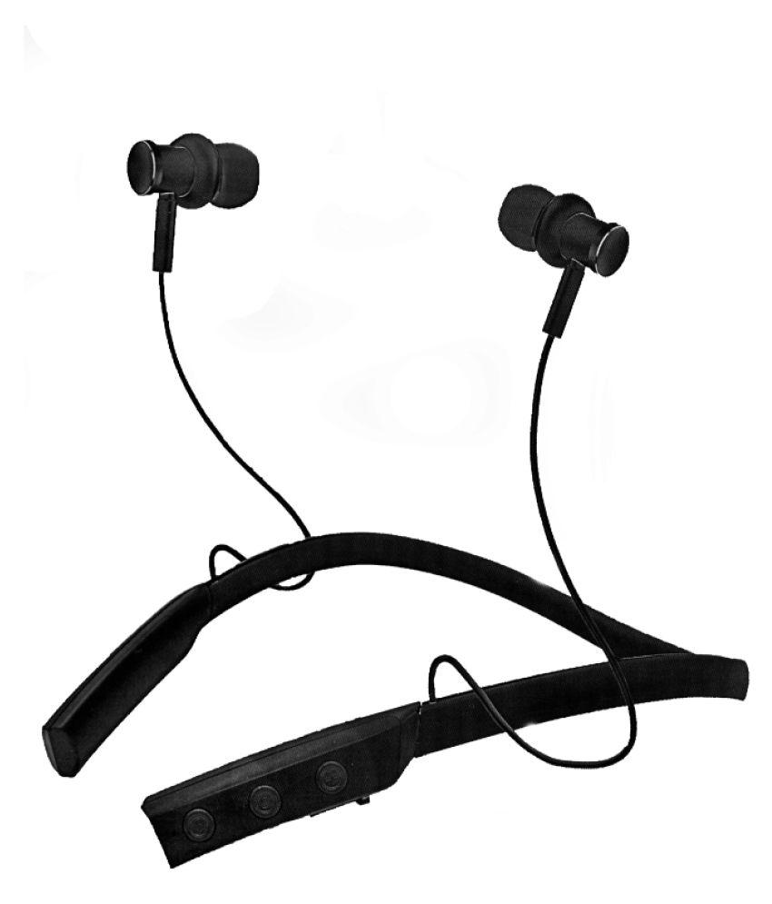 Jnix JBT 12 Hi Fi Sound Wireless Headset Neckband Wireless With Mic Headphones/Earphones