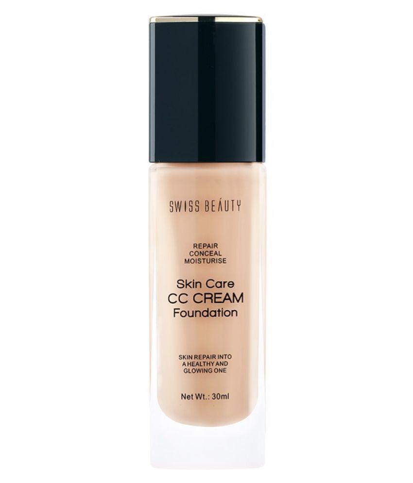 Swiss Beauty CC Cream Foundation (Natural Beige), 30ml