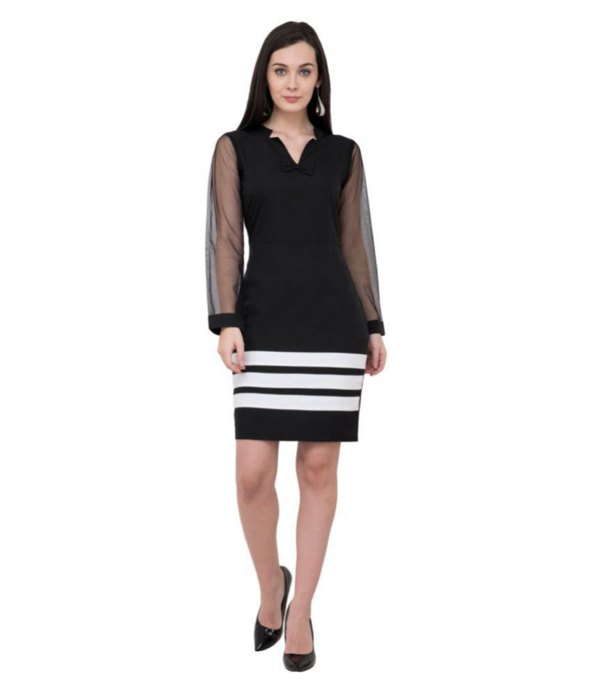Karmic Vision Crepe Black Regular Dress