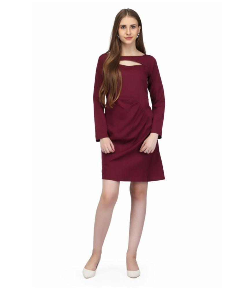 Karmic Vision Crepe Brown Bodycon Dress