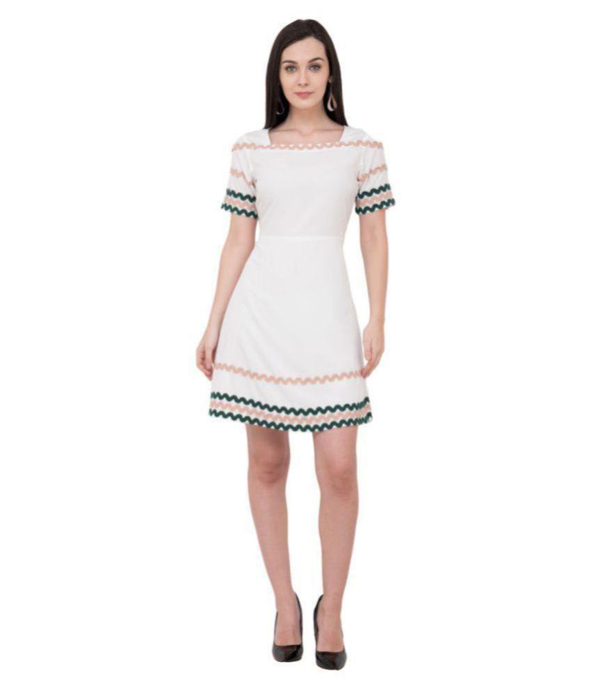 Karmic Vision Crepe Off White Regular Dress