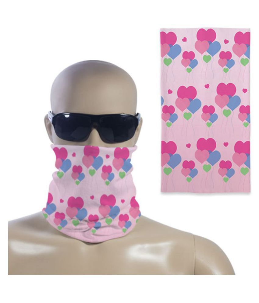 Right Gifting Unisex Bandana /Head Wear For Bike Riders/Outdoors (Pink, 17 X 9 Inches)