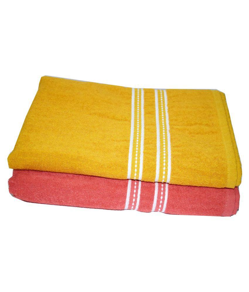 SNYTER Set of 2 Cotton Bath Towel Mustard