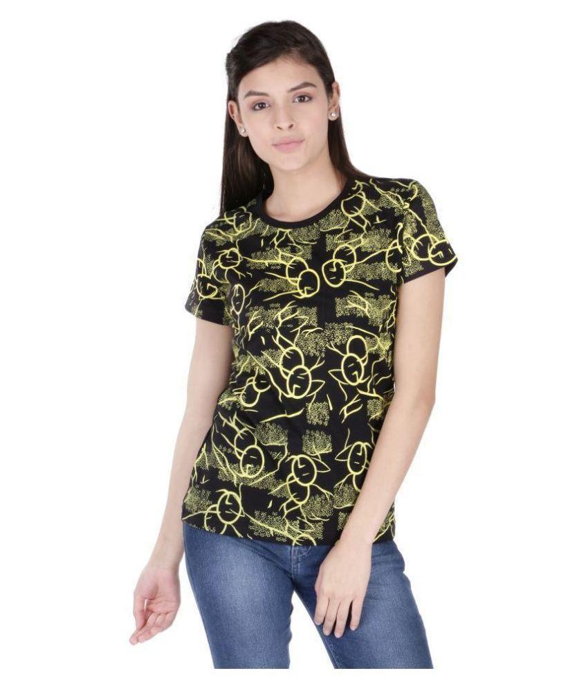 Neo Garments Cotton Black T-Shirts