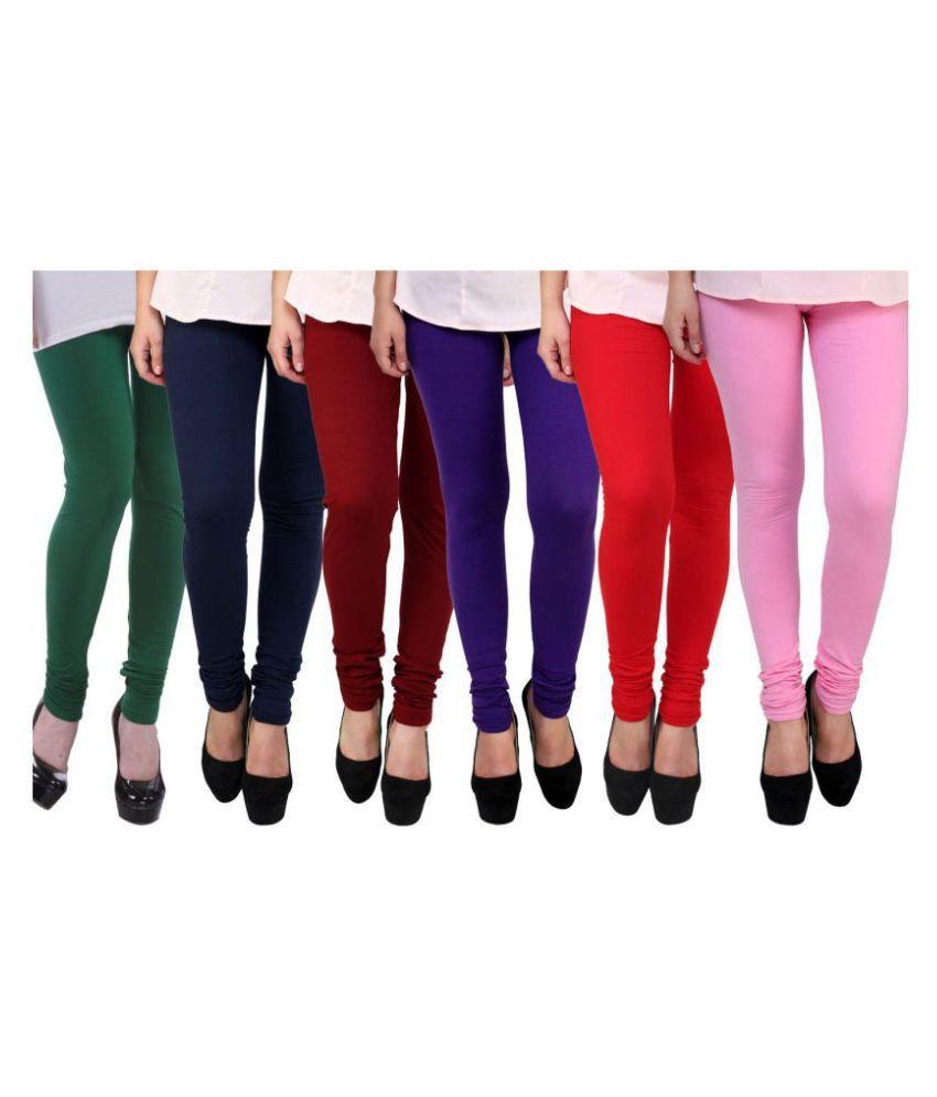 Famaya Girl #039;s Cotton Leggings Pack of 6