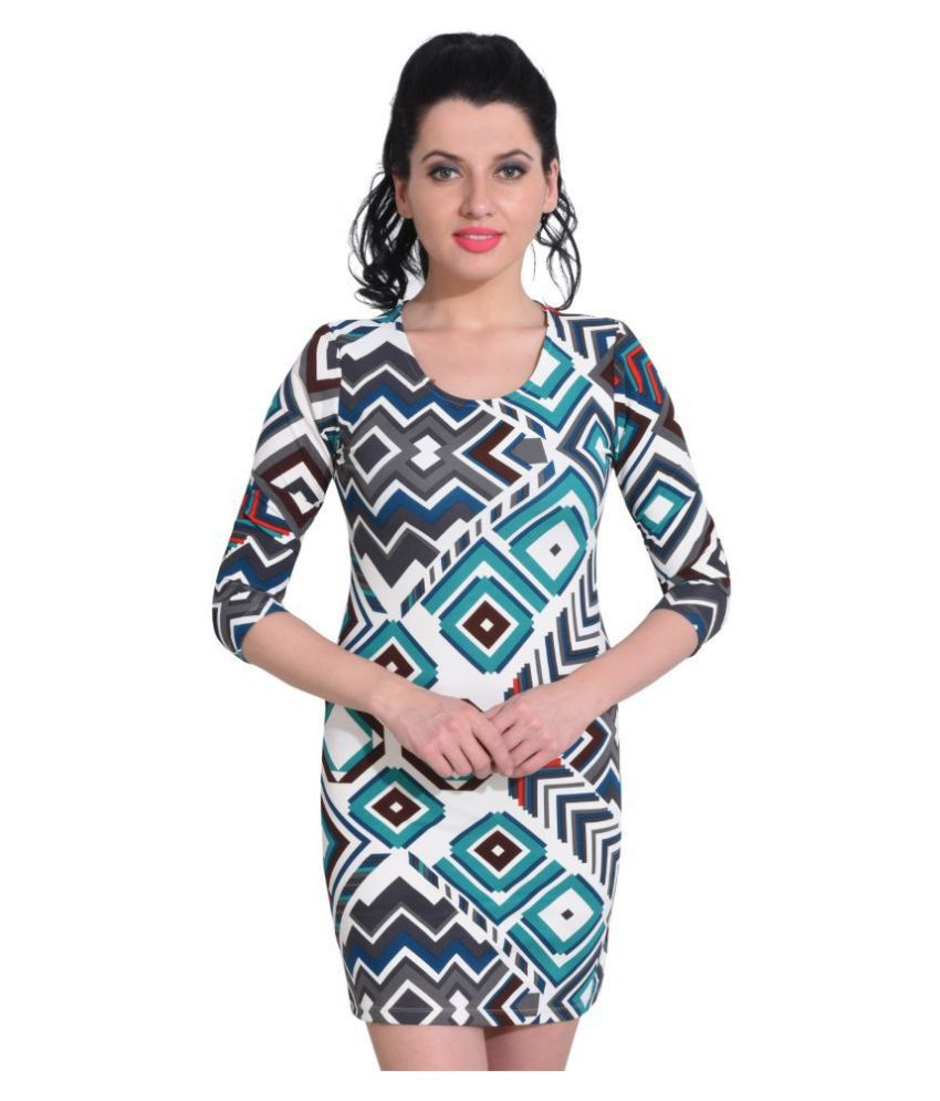 Five-Stones Cotton Multi Color Regular Dress