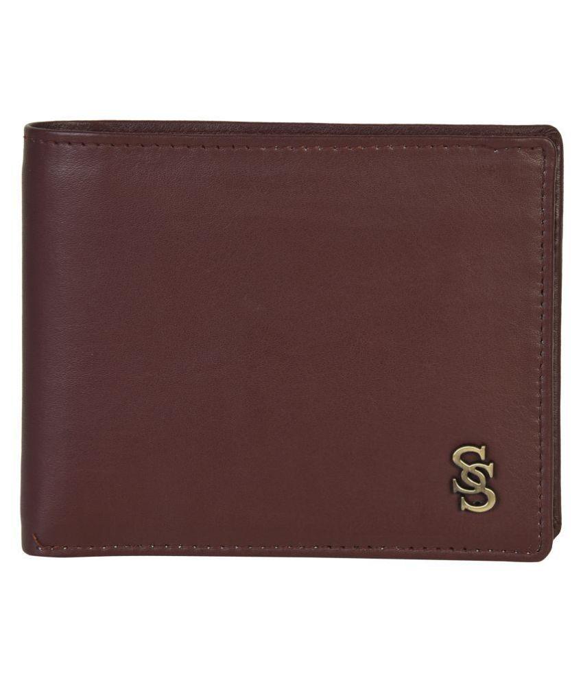 Second Skin Leather Brown Formal Regular Wallet