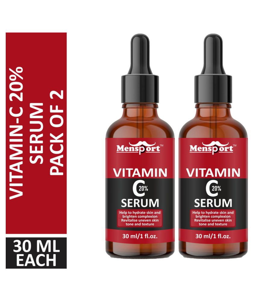Mensport Vitamin C Skin Brightening Face Serum 30 mL Pack of 2