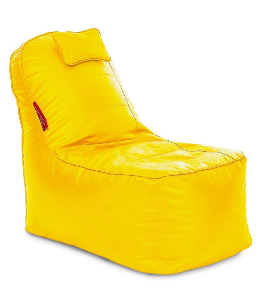 Home Story Video Rocker Lounger Bean Bag XXXL Size Yellow Color Cover Only