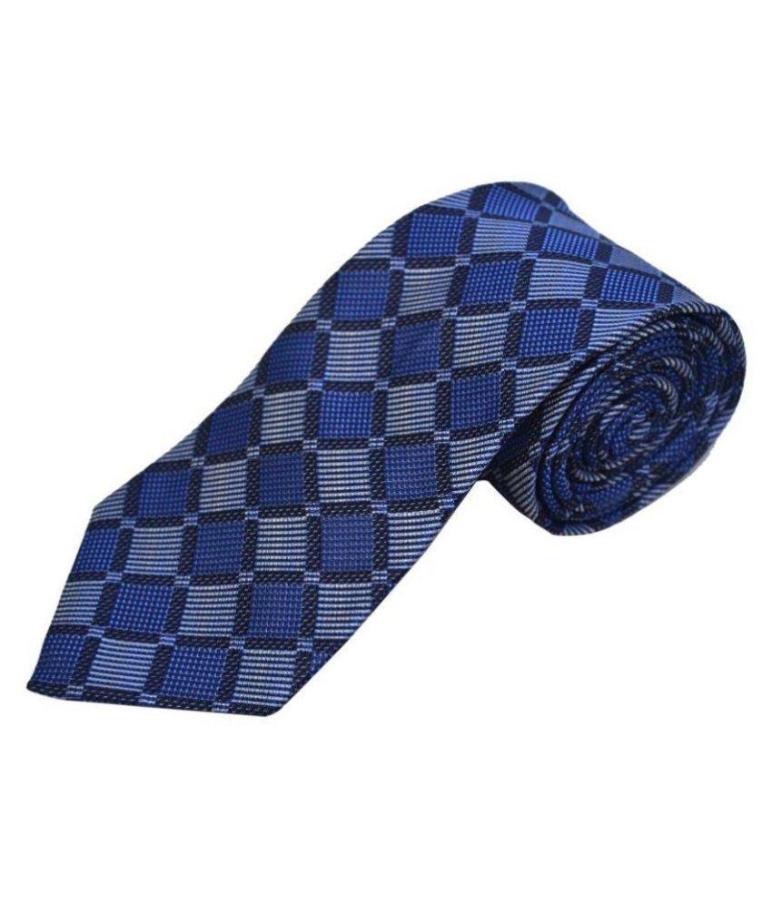 The Vatican Blue Checks Silk Necktie