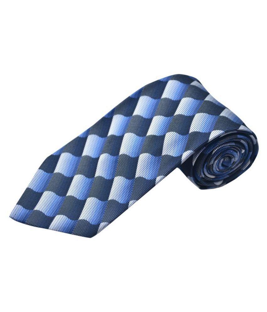The Vatican Blue Geometrical Silk Necktie