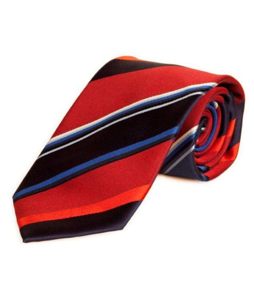 The Vatican Red Stripes Silk Necktie