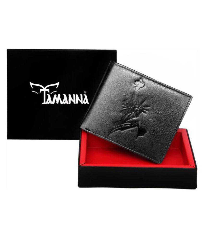 Tamanna Leather Black Casual Money Clipper