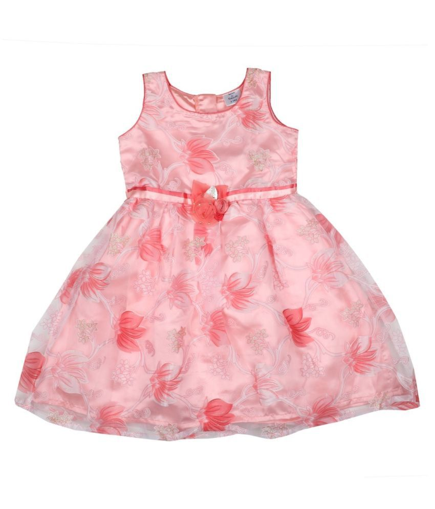 Doodle Peach Tissue Dress