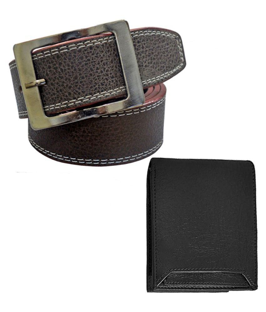 SUNSHOPPING Belts Wallets Set