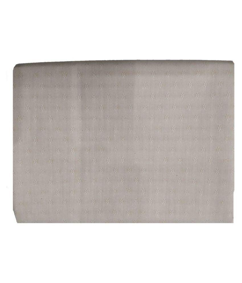 Gee Enn Sons Grey 100 Percent Cotton Unstitched Shirt pc