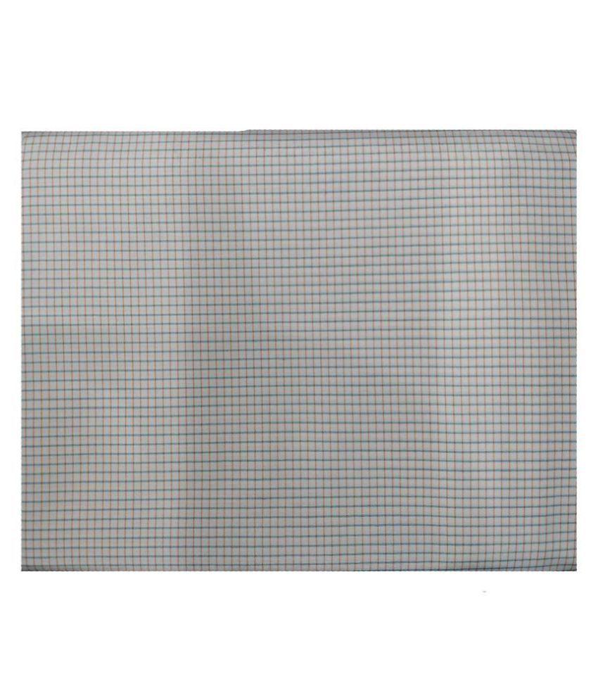 Gee Enn Sons White 100 Percent Cotton Unstitched Shirt pc