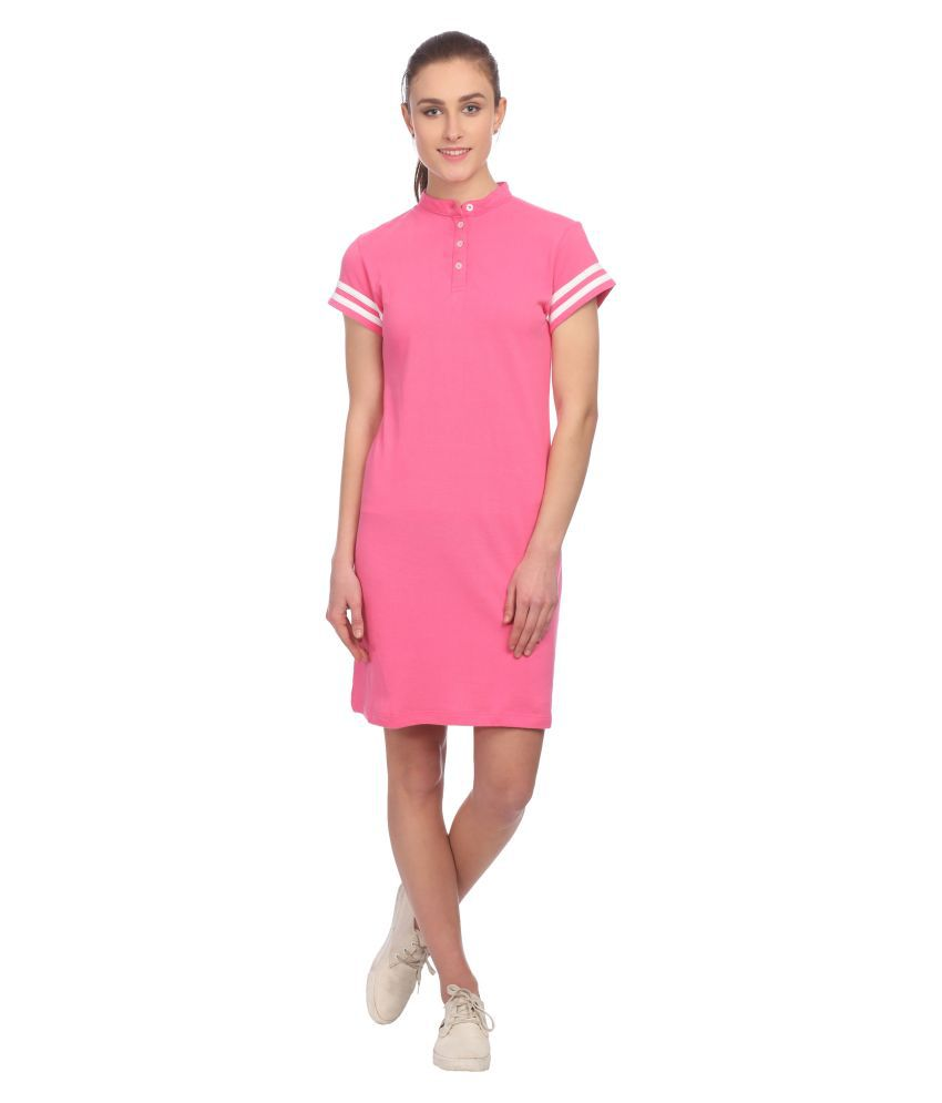 Taaruush Cotton Pink A- line Dress