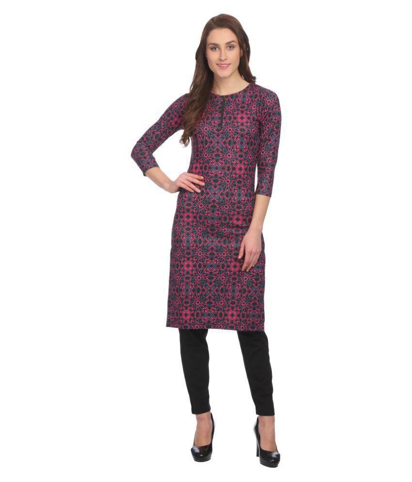 Taaruush Cotton Pink Regular Dress