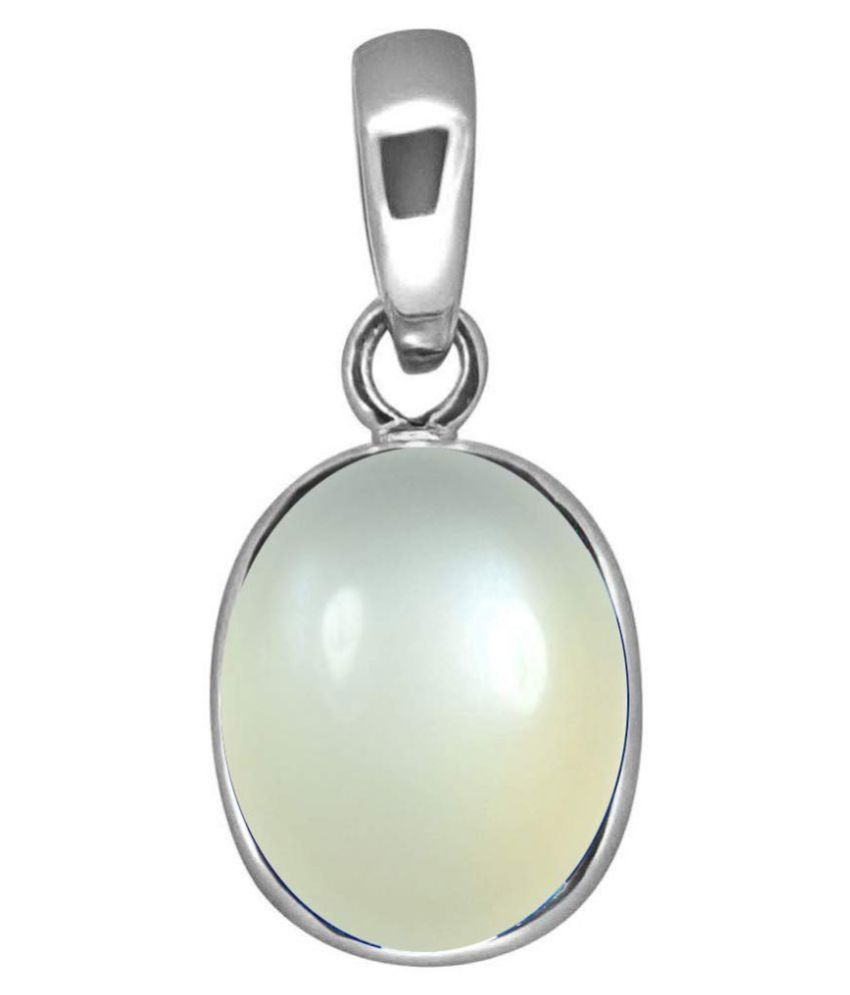 A1 Gems 7.25 Ratti 6.42 Carat A+ Quality Moonstone Gemstone Pendant For Men and Women's