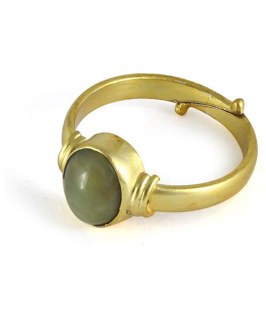 A1 Gems Cat's Eye 7.25 Ratti Certified Natural Lehsuniya Loose Gemstone Ring