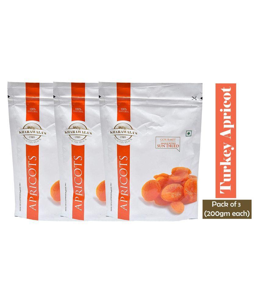 Kharawala's Apricot (Khumani) 600 g Pack of 3