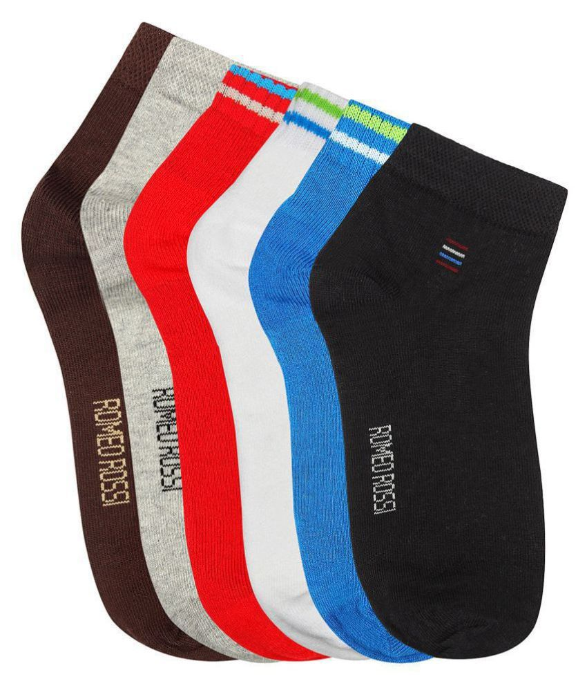 Romeo Rossi Multi Casual Combo Pack of 6