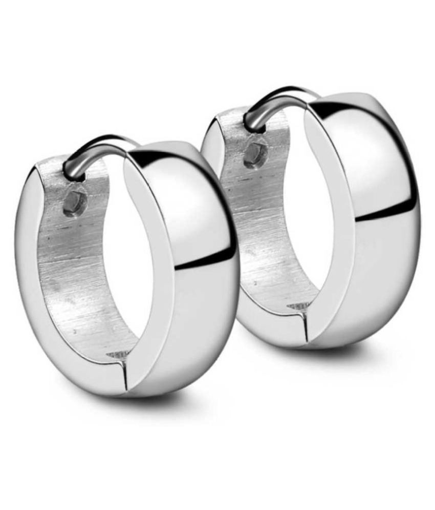 Mens Jewellery Silver Bali Stud Mens Earing / Ear rings Combo For Men / Gents / Boys / Boyfriend Stainless Steel Plug Earring