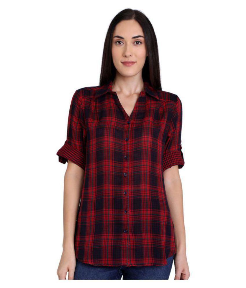 Recap Red Poly Cotton Shirt