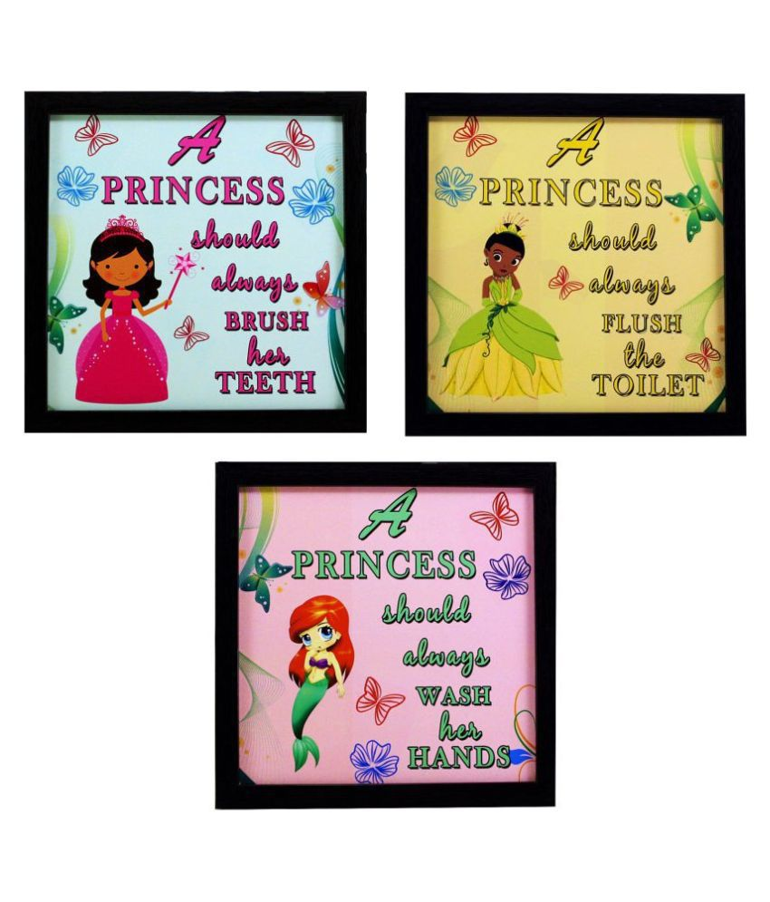 Indianara Kids Décor Synthetic Painting With Frame