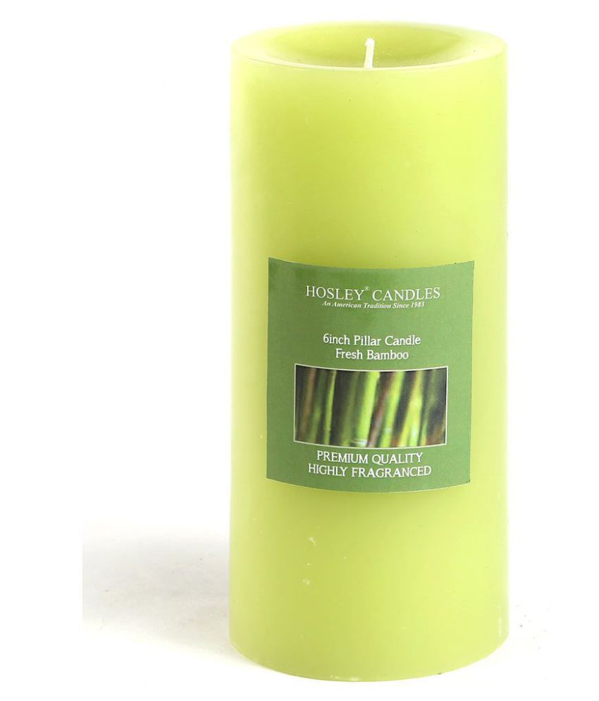 Hosley Green Pillar Candle - Pack of 1