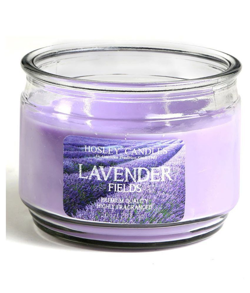 Hosley Purple Jar Candle - Pack of 1